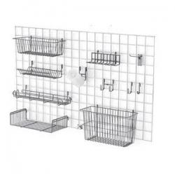Корзины-накопители сетчатые для торговых решеток