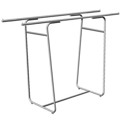 Вешало для одежды напольное двойное, хром (Арт.5M-02)