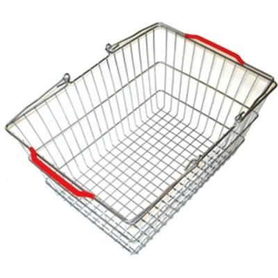 Корзина покупательская металлическая с пластиковыми углами 20 л, цинк (Арт.SBP20-ZN)