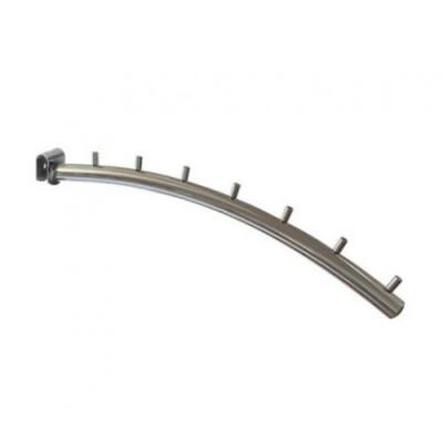 Кронштейн дугообразный 7 штырьков на овальную трубу, хром (Арт.U216)