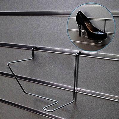Полка для обуви под каблук правая, 150х130 мм, хром F138