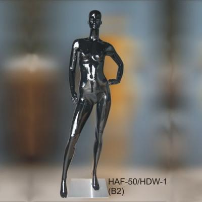 Манекен ростовой женский, чёрный глянец (Арт.HAF-50/HDW-1(B2))
