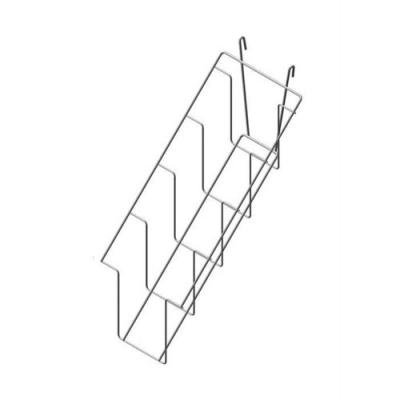Полка наклонная 4 ячейки для колготок на решетку, белый