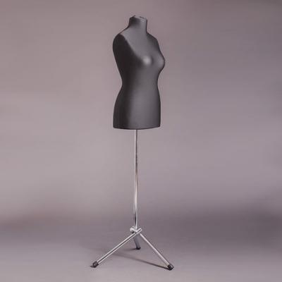 Манекен портняжный женский мягкий, чёрный/хром (Арт.D-2)