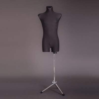 Манекен портняжный мужской, чёрный/хром (Арт.M-1)