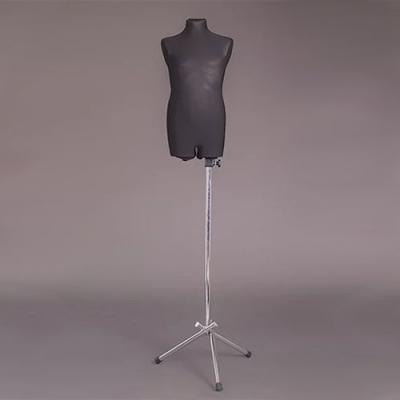Манекен портняжный детский мягкий, чёрный/хром (Арт.B-1)