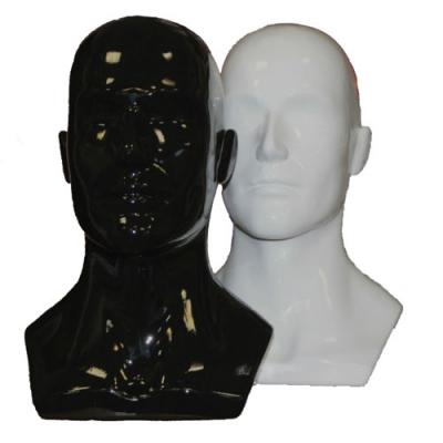 Манекен голова мужская окрашенная пластик