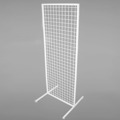 Стойка-решетка напольная двусторонняя, белый