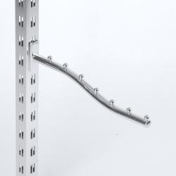 Кронштейн волнообразный 7 шариков, хром (Арт.2207)