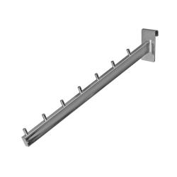 Кронштейн наклонный овальный 7 штырьков, хром (Арт.Р002)