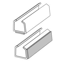 Клипса для крепления рамок к ровным поверхностям