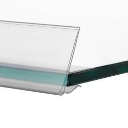 Ценникодержатель для стеклянных полок