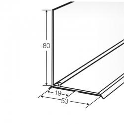 L-профиль пластиковый высотой 80 мм