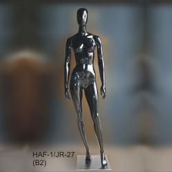 Манекен ростовой женский, чёрный глянец (Арт.HAF-1/JR-27(B2))