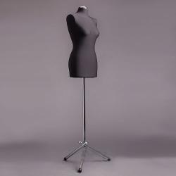 Манекен портняжный женский мягкий, чёрный/хром (Арт.D-1)