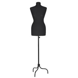 Манекен портняжный женский пластик, чёрный (Арт.К-301-С-4И)