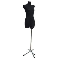 Манекен портняжный женский мягкий, чёрный (Арт.D-10)