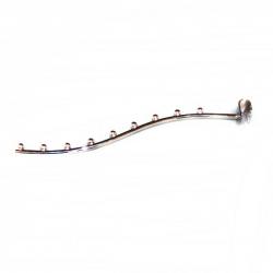 Кронштейн волнообразный 9 шариков на овальную трубу, хром (Арт.U136)
