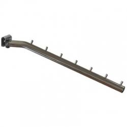 Кронштейн наклонный 7 штырьков на овальную трубу, хром (Арт.U246)