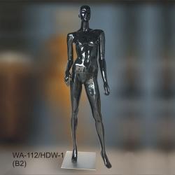 Манекен ростовой женский, чёрный глянец (Арт.WA-112/HDW-1(B2))