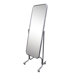 Зеркало двустороннее напольное на колесах с изменением угла наклона, хром
