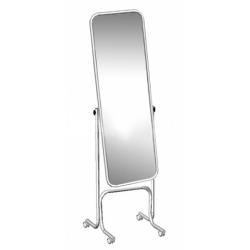Зеркало примерочное напольное на колесах с изменением угла наклона, хром