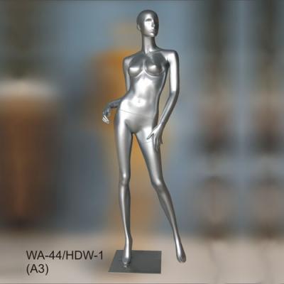 Манекен ростовой женский, серебро (Арт.WA-44/HDW-1(A3))