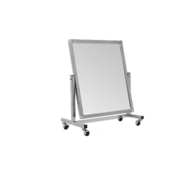 Зеркало напольное малое на колесах с изменением угла наклона, хром